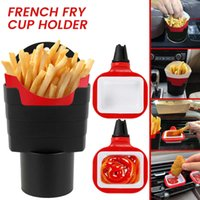 French Fry Cup Holder for Car In-Car Sauce Tray and Burger Fixed Holder Air Vent Clip Sauce Holder Set Car Accessories Dip Clip