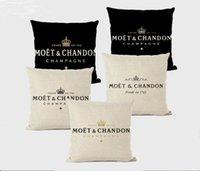 Cuscino cuscino Moet Chandon Champan Champanne cuscino cuscino coperture 45x45cm Decorazione divano decorazione lettera regalo stampa copertura in lino per El Car