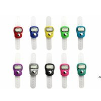 Mini Hold Hold Band Tally Counter LCD Digital Screen Digital Ring Electronics Count Head Count Buddha Contatori elettronici 10 colori DHF7330