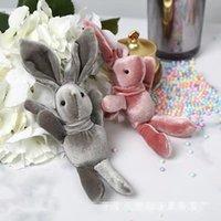 XMY Plush Toy Rabbit And FlowersVelvet Plush Long Legs Rabbit Plush Doll Pendant Of Girl Children Toy