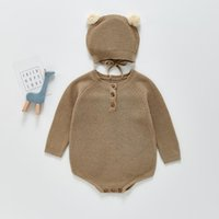 Clothing Sets Winter Soft Jumpsuits Warm Cotton Rompers Baby Kid Bodysuits Solid Clothes For Borns Toddler Boys Girls Outfits