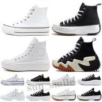 Chuck Taylor All Star Platform Move Run Star Hike الكلاسيكية قماش الرجال النسائية عارضة الأحذية تشاك عيون كبيرة حذاء رياضة منصة الأحذية الثلاثي الأسود الأبيض ارتفاع منخفض رجل المرأ