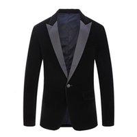 Mens Classic Velvet Suits Stylish Burgundy Royal Blue Black Fashion Wedding Groom Slim Fit Tuxedo Prom Costume