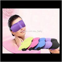 3D Sleep Pest Viaggio Eye Mask Cover Sponge Cover Blindfold Shade Eyeshade Maschere Dormire 13 Colori Drop D164K Kacst