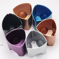 3 in 1 Triangular aluminum alloy metal ashtray Office desk decorations Stationery organizer bucket for offices Internet cafe bar BWD7648