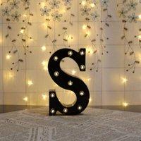 Party Decoration Alphabet A-Z letras decorativas luces de boda cumpleaños led pared decoración x4yd