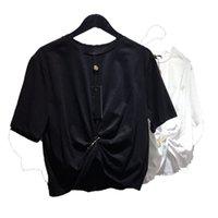 Erkekler Moda T Shirt 2021 Trendy Kadın Tshirts Nakış Çiftler Ile Elbise Mektup Erkek Bayan Yaz Siyah Beyaz Rahat Nefes Tee Tops
