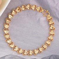 FORSEANCE Patrón de corazón de estilo coreano romántico pulsera de color oro novia novia boda joyería regalo para mujeres niña