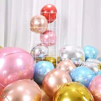 2pcs 4D Feuille ronde Ballons 22inch Helium Globos Métallique Ballon Mariage Décor Annonce Décorations Fournitures de Noël Décoration