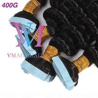 Doğal siyah bant ipek düz afro kinky kıvırcık vücut derin su dalgası 4A 4B 4C Brezilyalı bakire remy insan saç uzantıları