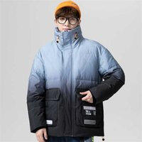 High Quality Winter Men Down Coat Jacket Casual Fashion Loose Leisure Simple Stylish Patchwork Warm Windproof Male Youth
