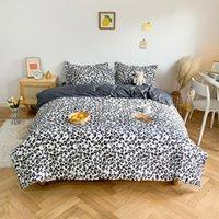 Bedding Sets Home Living Leopard Print 3 4Pcs Flat Sheet Pillow Case Duvet Cover Queen Size And King