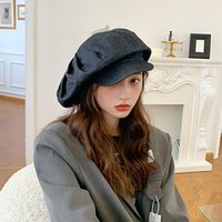 Beanies Cotton Beret For Women Autumn Designer Models Exaggerated To Show Off A Small Face Personality Modern Showroom Fashion Hats