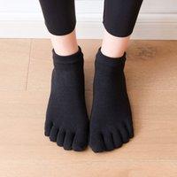 [Fabricante atacado] Algodão penteado All Inclusive Cinco meias de dedo dispensando meias de dança esportes meias indoor fitnessmn