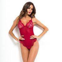 Ladies Swimwear V neck spaghetti strap lace bodysuit women sheer body transparent stripe sexy jumpsuit romper bodysuits
