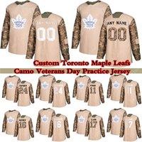 Benutzerdefinierte Toronto Ahornblätter Camo Veterans Day Practice Hockey Jerseys 91 Tavares 34 Matthews 16 Marne 97 Thornton 24 Simmeln Sie einen Namen und die Nummer