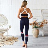 Estilo elegante Novo Strike Cor Splicing Calças de Yoga Set Fitness Calças Terno Esportes Sutiã Set Suit Top Terno Yoga Wear