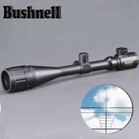 골드 Bushnell 6-24x50 Aoe Riflescope 조정 가능한 녹색 빨간색 도트 사냥 빛 전술 범위 레티클 광학 시력 범위