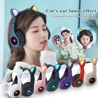 Bluetooth Earphone B39 Cat Ear Wireless 5.0 Luminous Computer Gaming Headset Bluetooth Gaming Headset Audifonos Inalambicos Red