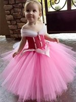 Girl's Dresses Camo Pink Tulle Little Girl Toddler Pageant First Communion Baby Birthday 2021 Ball Gown Flower