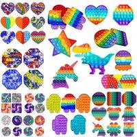 Push Pop Zappeln Spielzeug Rainbow Blase Sensorische Autismus Sonderanforderungen Stresseinlagerung Es senfe Sinnesspielzeug für Kinderfamilie DHL Versand FY2483