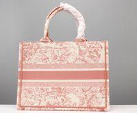 Dior shopping bag Luxurys Designer Borse Lady Big-Capacità Borse Borse Parigi Borse di Parigi Moda Retro Stile etnico Tela Pattern Stampato Pattern Handbag