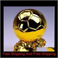 بطل كرة القدم الكأس تيتان كأس الذهبي الكرة كرة القدم مروحة التشجيع هدايا تذكارية الراتنج الحرفية تذكار الجوائز 6ZFKH 6S7OI