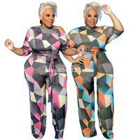 Uma peça Outfit Mulheres Casual Jumpsuit Com Lace Up Plus Size Jumpsuits Malhas Equipadas Malhas Atacado Mulheres