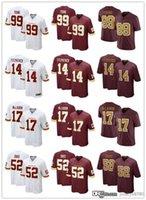 "Homens Washington ""Futebol Team 52 Jamin Davis 99 Chase Young 17 Terry Mclaurin 14 Ryan Fitzpatrick 24 Antonio Gibson Football Jerseys"