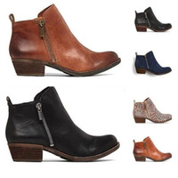 Boots 2021 Vintage Style Leather Women Flat Booties Soft Cowhide Women's Shoes Front Zip Ankle