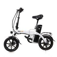 Elektrisches Fahrrad 14 Zoll Womens Bike Zwei Räder Mini Faltbare Roller Erwachsene Schwarz / Weiß Range 80km