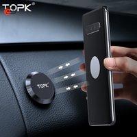 Topk Magnetic Autotelefonhalter Dashboard Handy Stand Lenkrad Halter Magnetische Wandhalterung für Telefon Samsung Xiaomi TZ