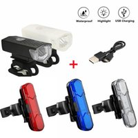 Bike Lights Rainproof USB Charging LED Cycling Light Bicycle Set Frontlight Taillight Ultralight Lamp Accessories