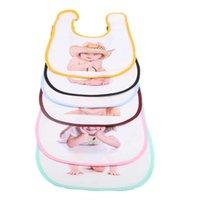Diy فارغة الأبيض التسامي الطفل الرضع مريلة لينة الخوخ الجلد منديل الحرارية نقل الحرارة الطباعة الوليد 0-3y المرايل اللعاب المناشف وشاح الصلبة بروب G73VFLQ