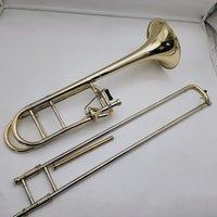 MargeWate Bb-F # Tune Tunor Trenombone Gold Brass Placcato strumento musicale professionale con custodia Golfs Golfs Accessori