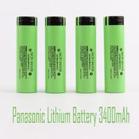 Высокое качество аккумулятора 18650 NCR18650B 3400 мАч 3.7 В литиевые батареи Li-на клеточной плоской вершине перезаряжаемые Panasonic для сигареты Flash Light Fedex Fast Card