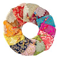 Jewelry candy bags 12 colors Damask creative pouches pouch silk drawsting Bracelet bag chinese style Christmas Thanksgiving Gifts