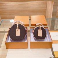 Womens Luxurys Designer Taschen 2021 Handtaschen Geldbörsen Schulter Kreuz Body Eimer Frauen Original Marke Mode Echte Echtes Leder Top Qualität Rundkreis