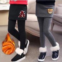 Euerdodo Girls Leggings для детей юбка Брюки пружины осень зима подросток тонкие брюки плюс бархатные теплые дети