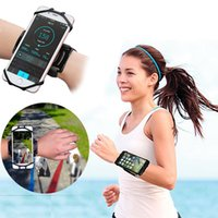 Running armband phone holder sports Wristband for Iphone 13 12 Pro Max 11 XR Samsung All Smartphones 180 Degree Rotatable Adjustable Silicone Wristbands
