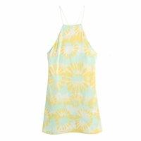2021 летние платья 2021 bbwm za ремешок 2021 женская печать без рукавов мини женщина элегантный пляжный праздник повседневная бега