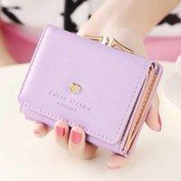 Small Women Wallet loving heart Short Womens Wallet Card Holder Girls Mini Woman Fashion Lady Coin Purse for Female Clutch Bag
