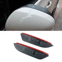 For Suzuki Ventrella Swift Jimny 2pcs Car Side Rear View Mirror Rain Visor Carbon Fiber Texture Eyebrow Sun Shade Guard Cover