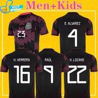 Mexico Soccer Jerseys 2021 Home Raul Chicharito Guardado Lozano 21 22 كرة القدم قميص 4xl Men + Kids Kit أكثر من 10 قطع Fast Shippin