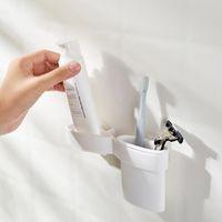Tools Rails Настенная зубная паста стойки сжимания артефакт бесплатный штампованный уборщик для лица