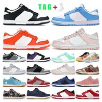 mens running Shoes women dunk Black White Orange Pearl unive...