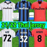 2021 2022 Atalanta BC Jersey Muriel Gomez Duvan Gosens Gosens Jerseys Lammers Miranchuk Ilicic Pasalic de Roon L.Muriel 21/22 Homens Kit Kit Futebol Camisa Uniforme