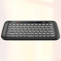Tastiera Mouse Combos H20 USB 2.4G Wireless Touch Mini retroilluminazione Air Volo per Home Office School Net Bar