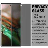 5D Gizlilik Kavisli Kenar Temperli Cam Ekran Koruyucu için Samsung Galaxy S21 S20 Note20 Ultra S10 S9 S8 Note10 Artı Note8 Note9 S7edge Durum Dostu Anti-Casus Film