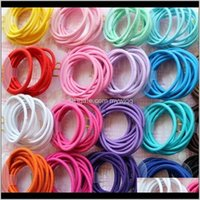 10Pcslot Rubber Kids Girls Ring Fashion Circle Hairbands Baby Headbands Band Jewelry Headband Sorab X09Yh